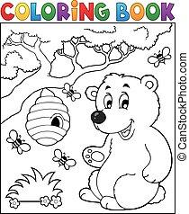 Coloring book bear theme 2 - eps10 vector illustration.
