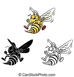 Coloring book Bee character