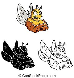 Coloring book Bee Strong caracter