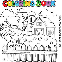 Coloring book bird image 3 - vector illustration.