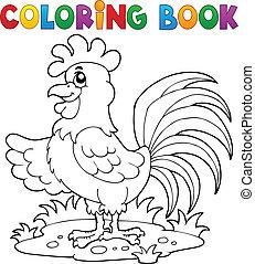 Coloring book bird image 7