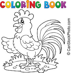 Coloring book bird image 7
