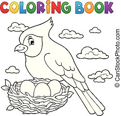 Coloring book bird topic 3
