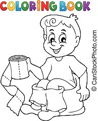 potty training stock illustrationby lenm3254 coloring book boy on potty