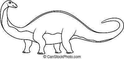 Coloring book: brontosaurus