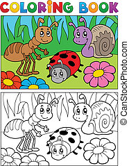 Coloring book bugs theme image 5 - vector illustration.