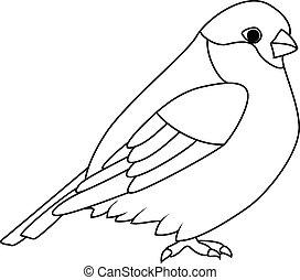 Coloring book: Bullfinch