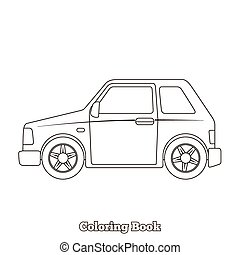 Coloring book car educational game vector