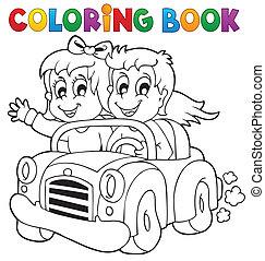 Coloring book car theme 1