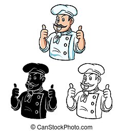 Coloring book Chef Thumb character