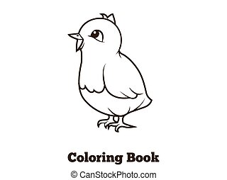 Coloring book chicken cartoon educational