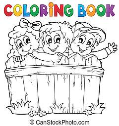 Coloring book children theme 1