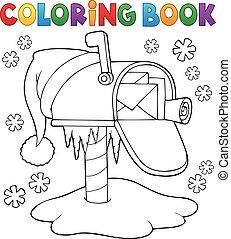 Coloring book Christmas mailbox