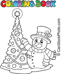 Coloring book Christmas thematics 1 - vector illustration.