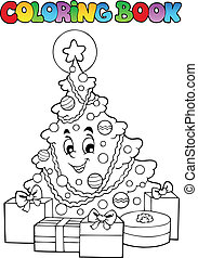 Coloring book Christmas thematics 2 - vector illustration.