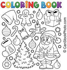 Coloring book Christmas thematics 4 - eps10 vector...