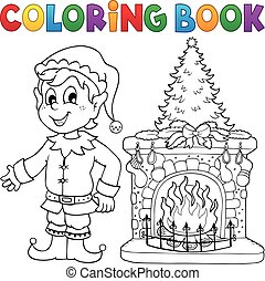 Coloring book Christmas thematics 8