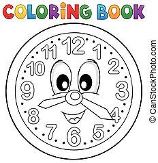 Coloring book clock theme 2