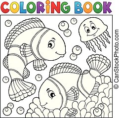 Coloring book clownfish topic 3