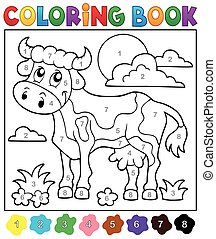 Coloring book cow theme 2