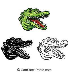 Coloring book Crocodile character - Coloring book Crocodile...