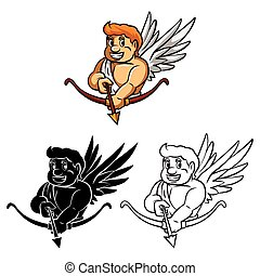 Coloring book Cupid caracter