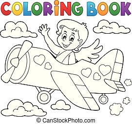 Coloring book Cupid topic 5