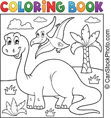 Coloring book dinosaur theme 3