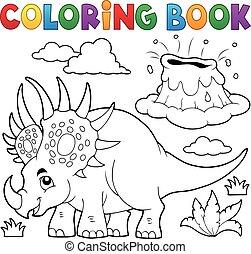 Coloring book dinosaur topic 2