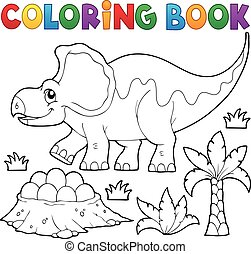 Coloring book dinosaur topic 3