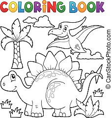 Coloring book dinosaur
