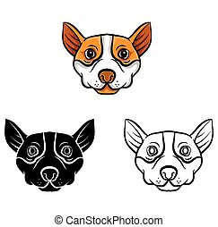 Coloring book Dog character