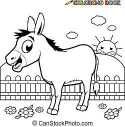 Coloring book Donkey