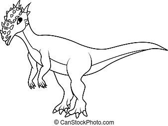 Coloring book: dracorex dinosaur