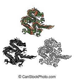Coloring book Dragon character