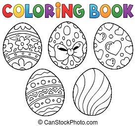 Coloring book Easter eggs theme 1 - eps10 vector...