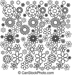 Coloring book flowers. Vector illustration.