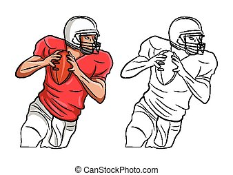 Coloring book FootBall character