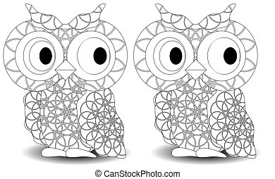 Coloring book for adult and older children. Coloring page...