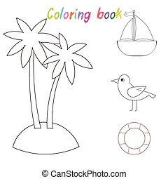 Coloring book for children vector illustration