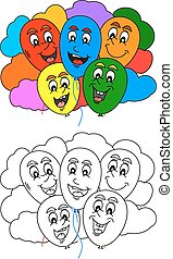 Coloring book for little kids with