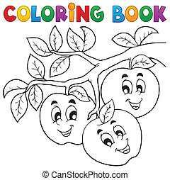 Coloring book fruit theme 1 - eps10 vector illustration.