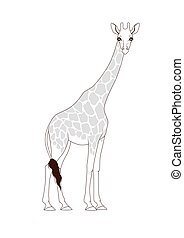 Coloring book: Giraffe