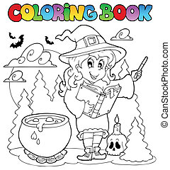 Coloring book Halloween character 2