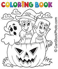 Coloring book Halloween character 5 - eps10 vector ...