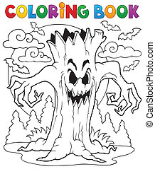 Coloring book Halloween character 7 - eps10 vector...