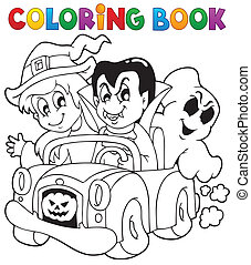 Coloring book Halloween character 8 - eps10 vector...