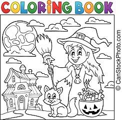 Coloring book Halloween thematics 1 - eps10 vector...