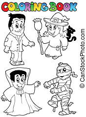 Coloring book Halloween topic 4
