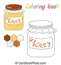 Coloring book honey kids layout for game